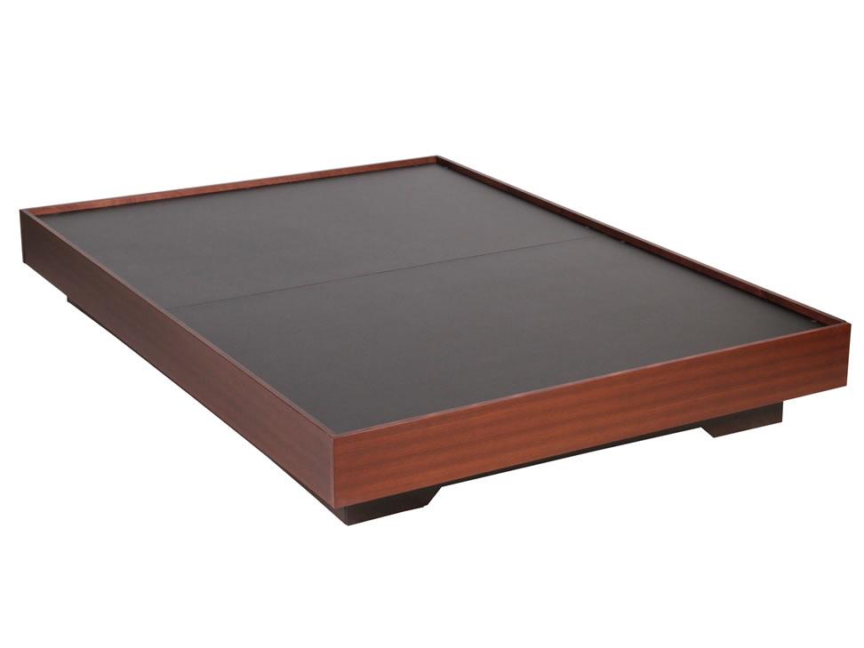 Base para cama matrimonial contempor nea chocolate for Colchones para cama matrimonial