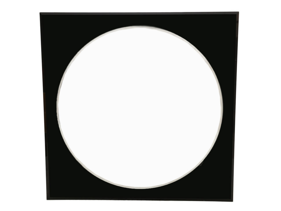 Espejo decorativo negro circular liverpool es parte de mi vida for Espejo circular